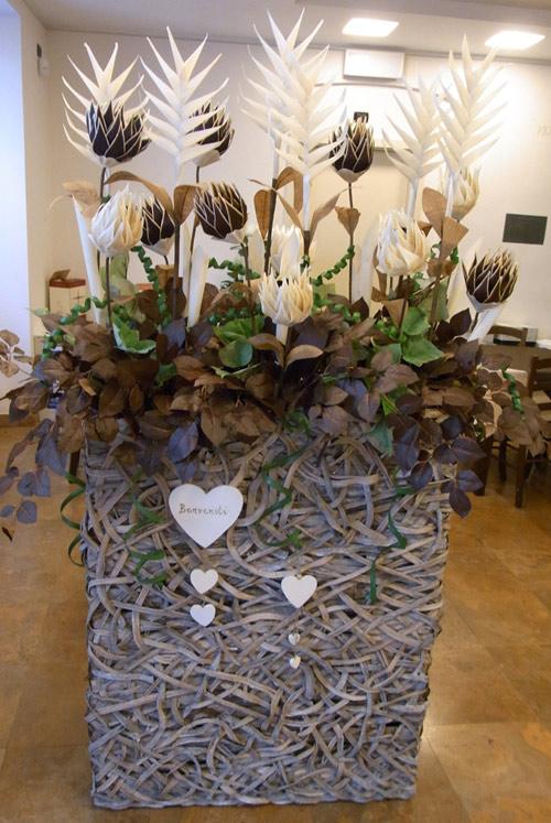 flari composizioni floreali artificiali On decorazioni per ristoranti