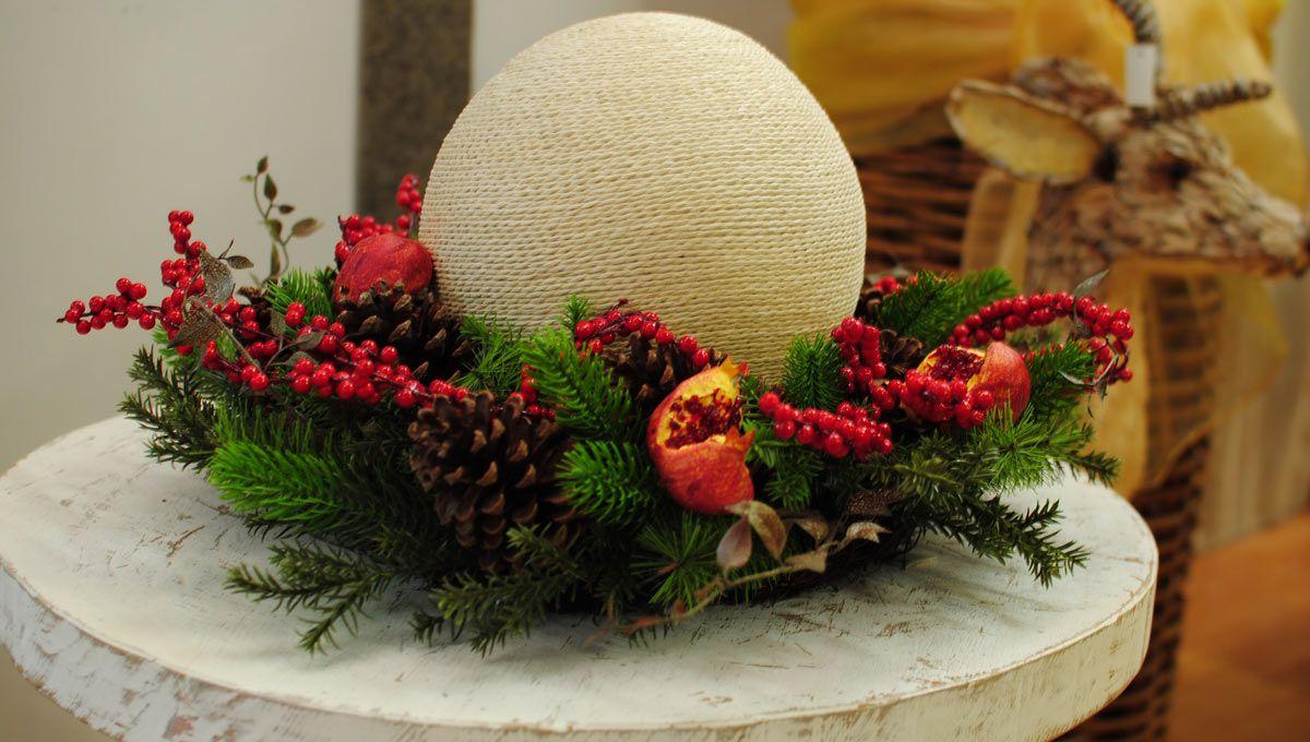 Addobbi floreali natalizi for Decorazioni natalizie personalizzate